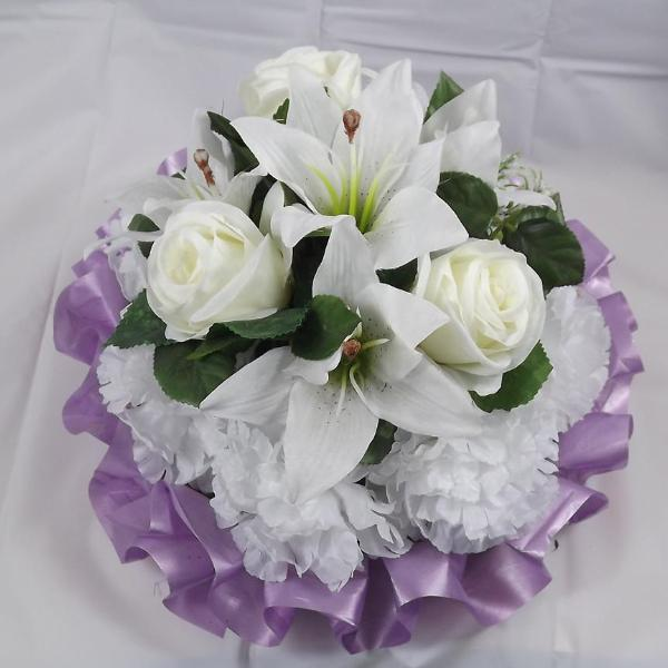 memorial based posy artificial silk flowers