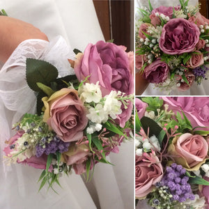 a bouquet collection of artificial flowers