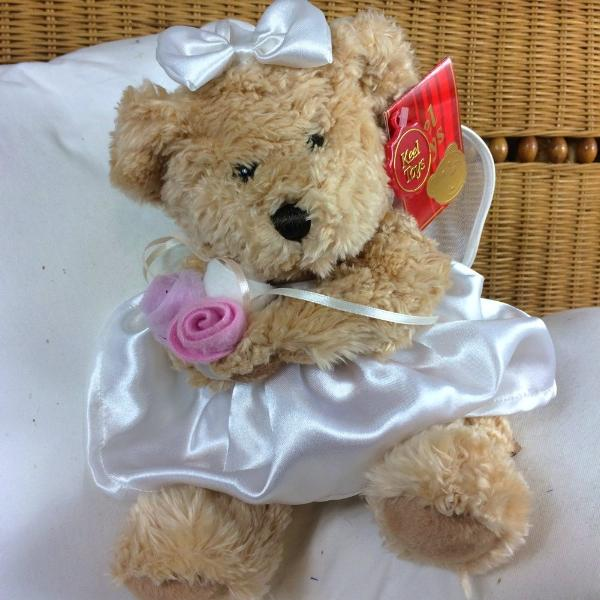 bridal teddy bear for flower girl