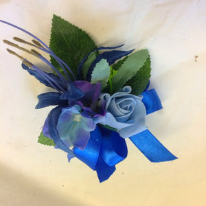 blue artificial corsage