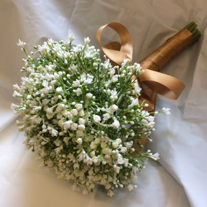 artificial wedding bouquet of gypsophilia