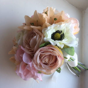 artificial silk wedding posy