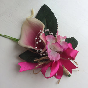 real touch calla corsage