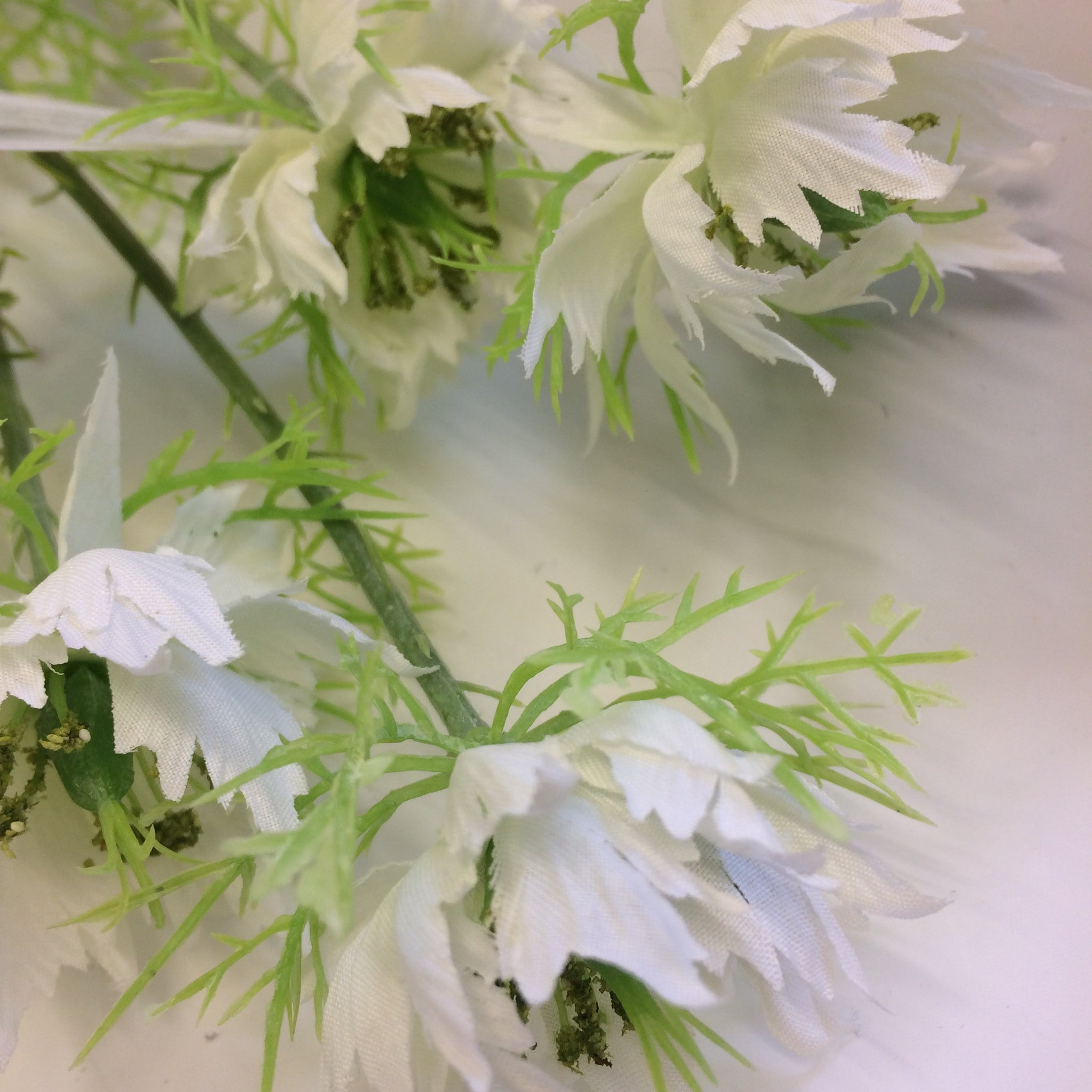 An Artificial White Nigella Silk Flower Spray Abigailrose