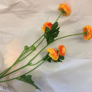 orange aster silk flower spray