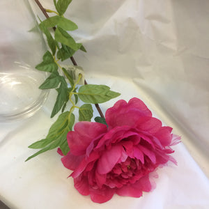 deep pink silk and organza peony flower