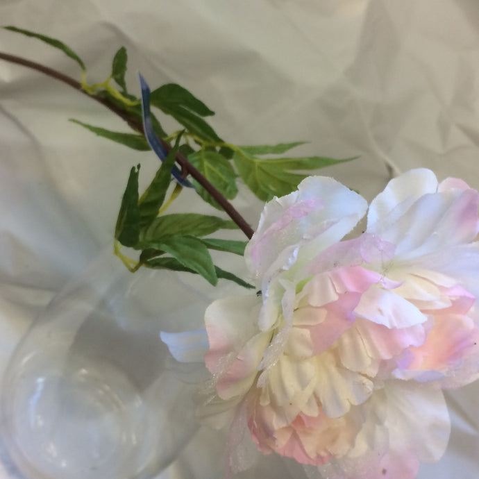 pink and cream peony silk flower