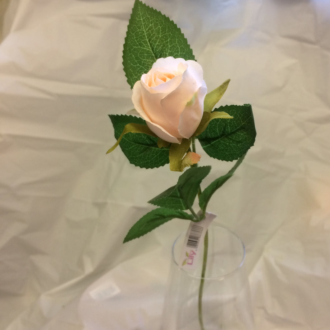 artificial peach silk rose flower