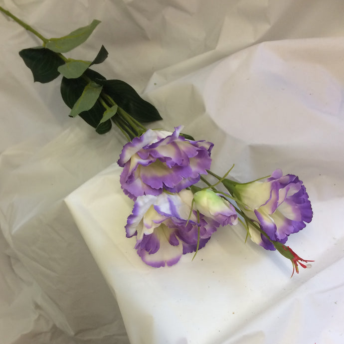 purple silk lisianthus