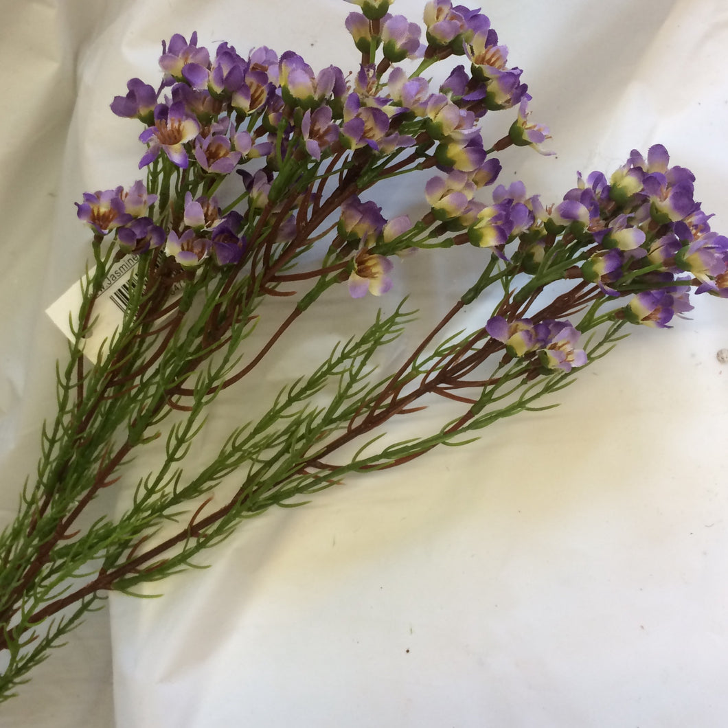 purple artificial silk wax flower