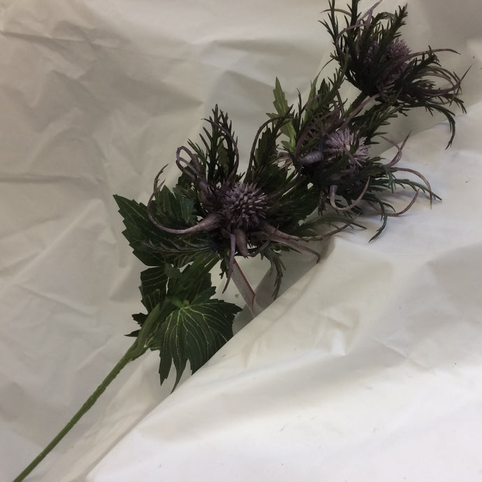 purple artificial sea holly