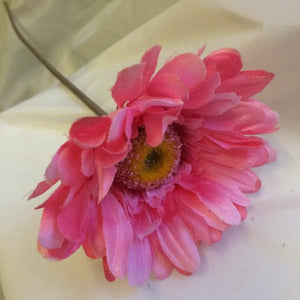 artificial pink silk gerbera flower