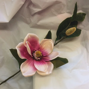 silk magnolia flower