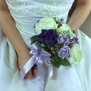 lilac and purple wedding bouquet