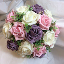lilac and pink wedding bouquet