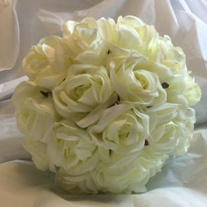ivory rose brides bouquet