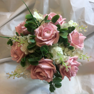 a flower girl's posy of foam roses - choice of over 35 colours