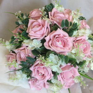 brides bouquet of foam roses