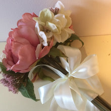 LAST ONE - A bridesmaids wedding bouquet featuring ivory & dusky pink peonies