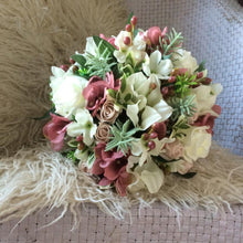 dusky pink and ivory wedding bouquet