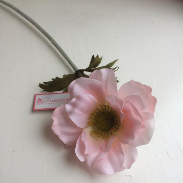 pale pink artificial silk anenome