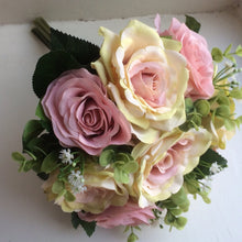LAST ONE - A wedding bouquet featuring dusky pink silk rose flowers