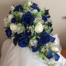 A collection of wedding bouquets featuring faux flowers (available in a range of colours)