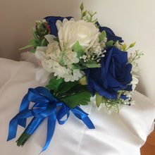 - A brides/bridesmaid bouquet of silk roses (available in a range of colours)