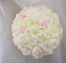 A bridesmaids pomander of foam roses (other colours available)