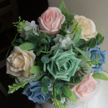 - A wedding bouquet collection featuring foam roses and lilac