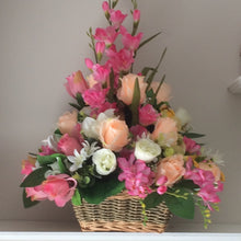 artificial front facing flower arrangement