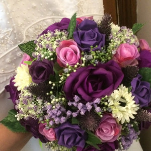 purple and violet wedding bouquet