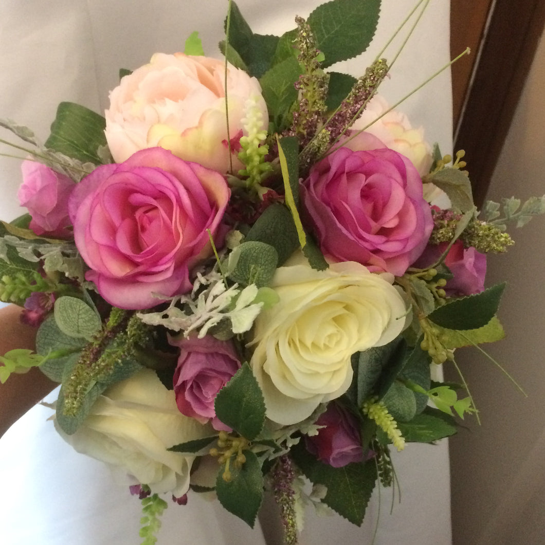 bridal bouquet of artificial roses