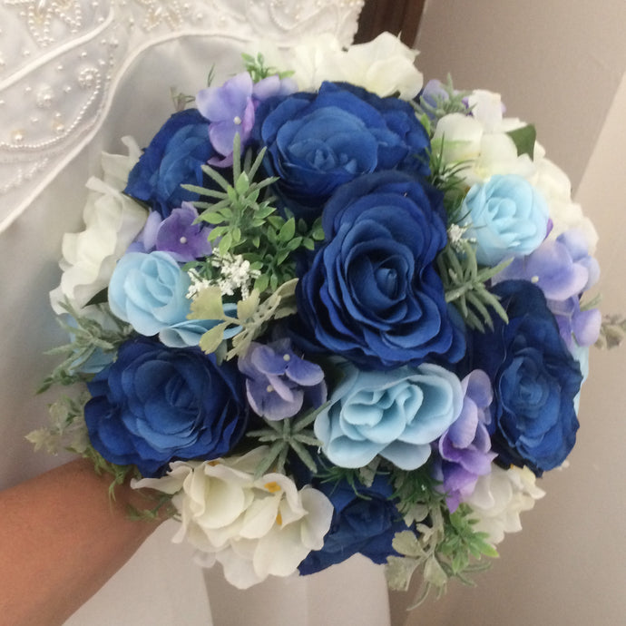 brides bouquet of artificial silk roses