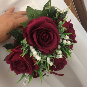 A bouquet collection featuring silk roses in a choice of colours and sizes