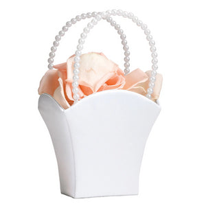 satin bridesmaid flower basket