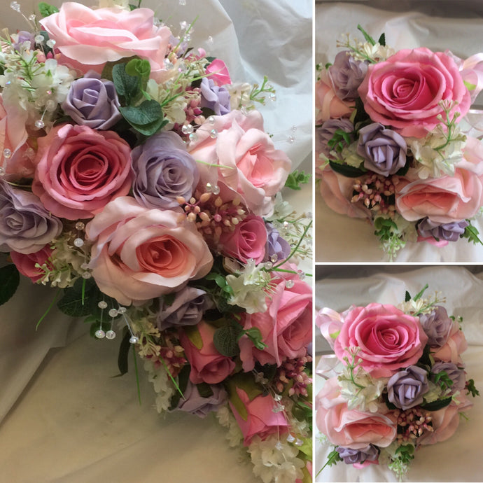 collection of wedding bouquets using artificial flowers