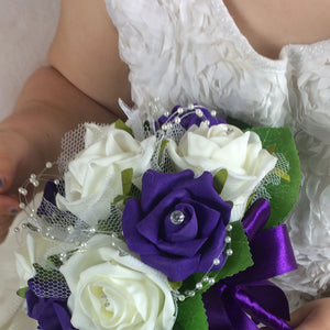 a bridesmaids posy of artificial foam roses - choice of over 35 colours