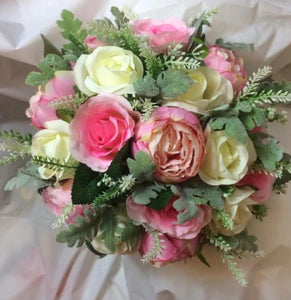 rose and peony bouquet