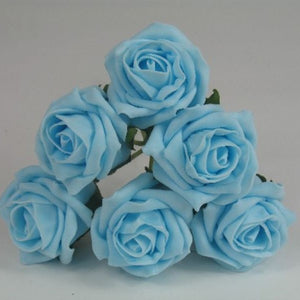 bunch of 6cm aqua foam roses