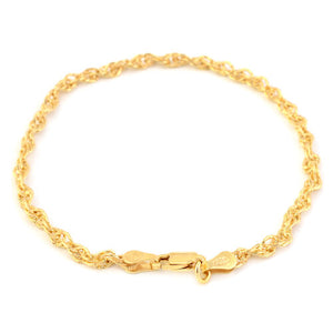 Made in Italy - 14K Gold Overlay Sterling Silver Bracelet