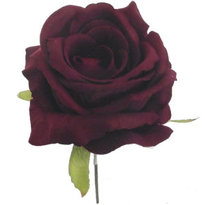 artificial silk burgundy rose