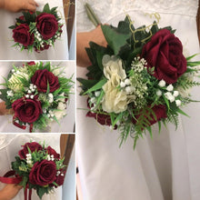 bouquet collection of burgundy silk roses