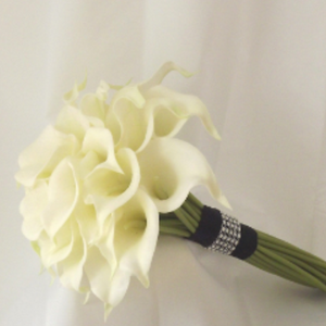 real touch calla lily wedding bouquet