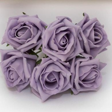 iced lilac foam roses