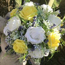 yellow and lemon foam rose bouquet