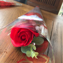 single red soap rose