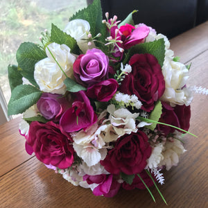 wedding bouquet of artificial flowers