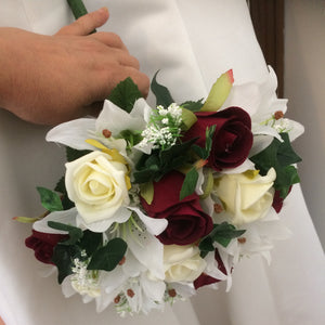wedding bouquet of faux flowers