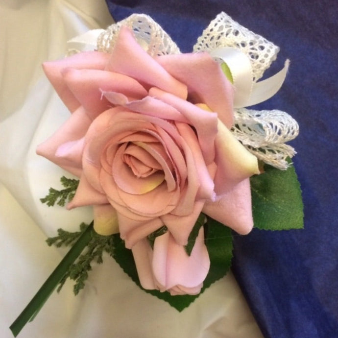 a wedding bouquet of pink and lilac flowers